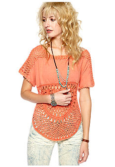 Free People Tri-Blend Knit Top