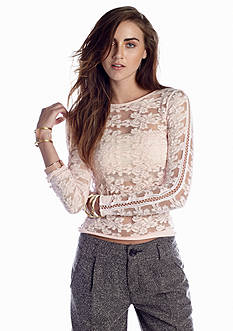 Free People Floral Stretch Pullover Top