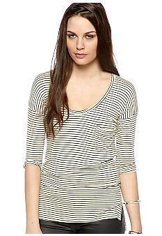 Free People Yarn Dye Stripe Top