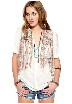 Free People With Love Fringe Vest