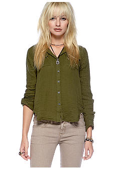 Free People Tride And Trude Button Down Shirt