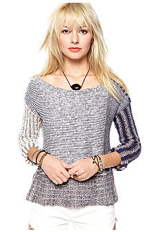 Free People I'm Cool With Stripes Pullover Sweater