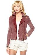 Free People Cotton Slub Sweater Jacket