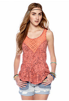 Free People Dorothy Printed Babydoll Top