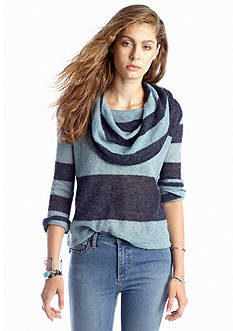 Free People Lulu Rugby Stripe Cowl Neck Sweater