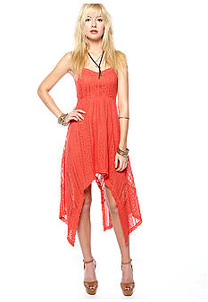 Free People Lace Hi Lo Dress