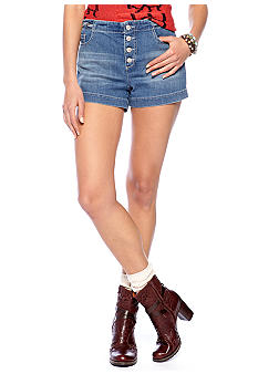 Free People Braided Hi Rise Jean Short
