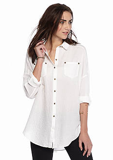 Free People Love Her Madly Button-Up Top