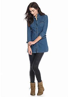 Free People Gummy Denim Mini Dress