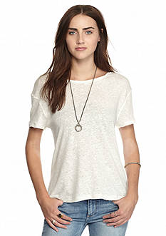 Free People Prairie Drape Back Slub Tee