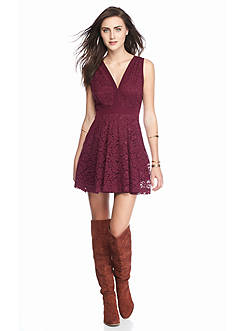 Free People Lovely in Love Mini Lace Dress