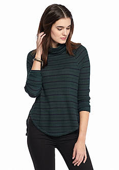 Free People Striped Drippy Thermal Knit Top