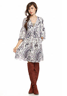 Free People Rain Or Shine Mini Dress