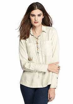 Free People Under Your Spell Lace Up Shirt
