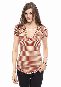 Free People Frenchie Striped Tee