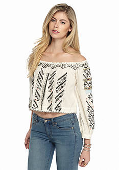 Free People All I Need Embroidered Crop Top
