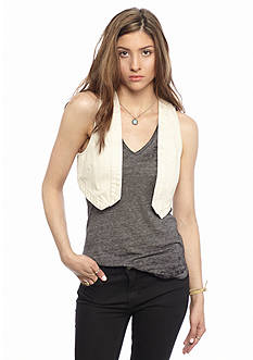 Free People Workwear Denim Vest