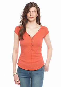 Free People Peaches Henley Top