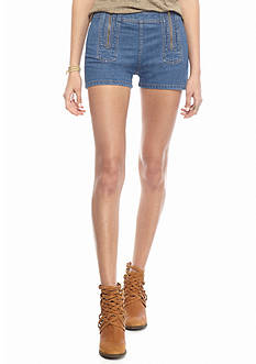 Free People Be Mine Double Zipper Jean Shorts