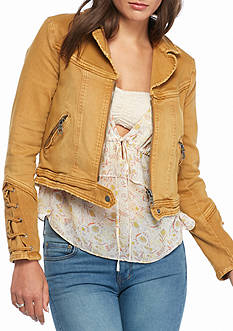 Free People Shrunken Twill Jacket