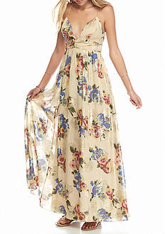 Free People Shadows Floral Printed Gown