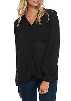 Free People The Best Button Down Shirt