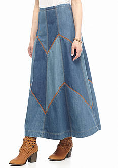 Free People Bliss Made Denim Maxi Skirt