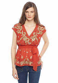 Free People Ooh La La Embellished Top