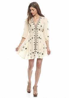 Free People Star Gazzer Embroidered Gauze Dress