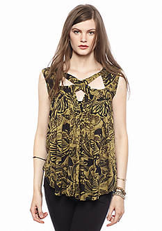 Free People Sugar Cane Printed Top