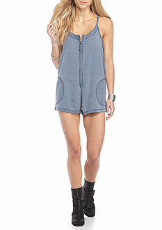 Free People Wainwright Chambray Romper