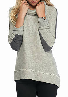 Free People Yo Yo Colorblock Cowl Neck Sweater