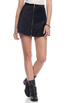 Free People Funkytown Velvet Mini Skirt