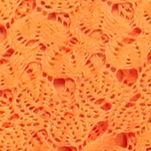 Tunic Tops: Orange Fever Crochet Sharkbite Top