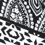 Fever Clothing: Black/White Fever Cold Shoulder Sharkbite Top