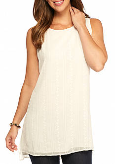 Fever Embroidered Step Up Hem Tunic