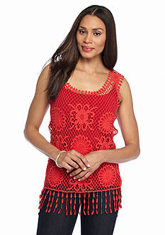 Fever Solid Crochet Tank