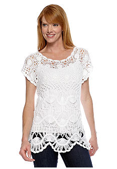 Fever Open Crochet Top