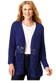 Fever Long Crochet Cardigan