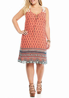 Heart N Soul Plus Size Crochet Back Dress