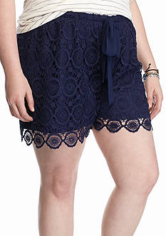 Free 2 Luv Plus Size Crochet Soft Shorts