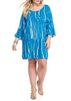 Free 2 Luv Plus Size Tie Dye Shift Dress