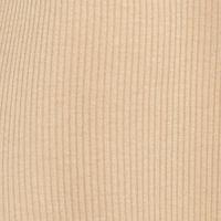 Free 2 Luv: Taupe/Khaki Free 2 Luv Plus Size Knit Swing Necklace Dress