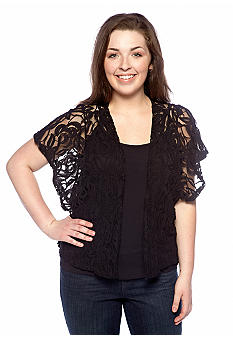 Free 2 Luv Plus Size Lace Cardigan