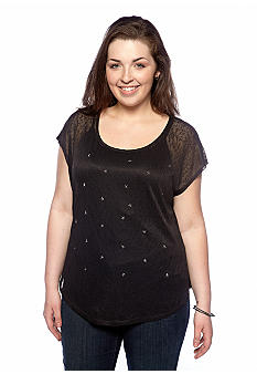 Heart N Soul Plus Size Scattered Stars Top