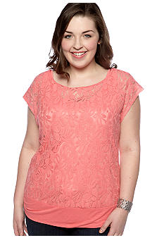 Free 2 Luv Plus Size Lace Top