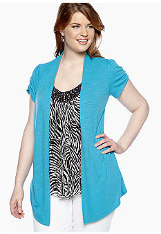 Free 2 Luv Plus Size 2fer with Animal Print Tank