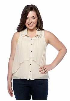 Free 2 Luv Plus Size Tiered Hi-Lo Tank