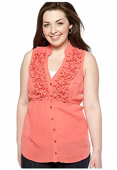 Free 2 Luv Plus Size Ruffled Babydoll Top
