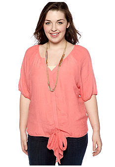 Free 2 Luv Plus Size Necklace Blouse